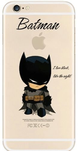 New Marvels Avenger Transparent Clear TPU Soft Case for Apple iPhone 8 Plus Batman