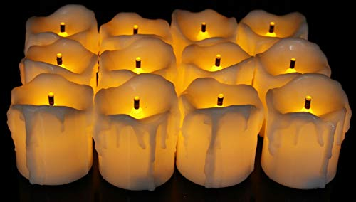 Satyam Kraft Plastic LED Tea Light Candles (Yellow) -Box of...