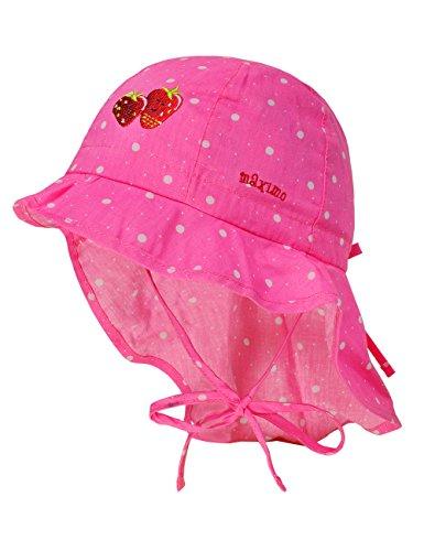 maximo Baby-Mädchen Mütze Flapper, Nackenschutz, Bindeband, Mehrfarbig (Rosa...