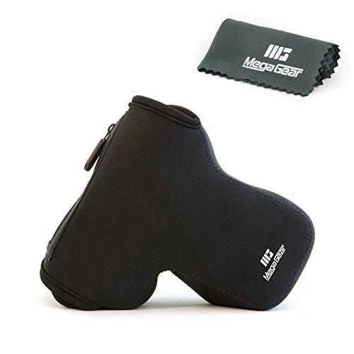 MegaGear ''ultraleichte'' Neopren Kameratasche - Schutzhülle für Spiegelreflexkamera Nikon D5500, D3300, D5200, D5100, D3200, D3400, D3100, D5300, D5600  18-105mm  - mit Karabinerfür einfaches Tragen