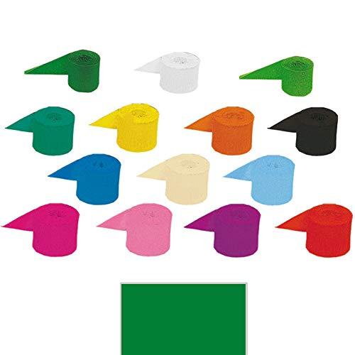 PARTY DISCOUNT® Krepp-Bänder, 10m x 5 cm, grün