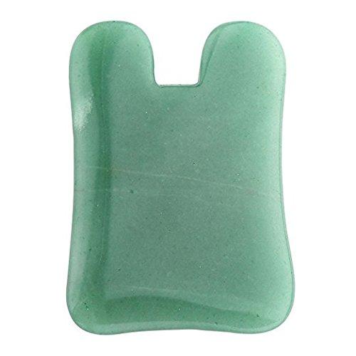 ECHO & Kern Square U Form Grün Jade Stein Gua Sha Massage Werkzeug, natürliche Jade kujaw/Gua Sha acupress & für Spa Akupunktur Square Platte