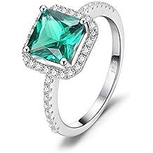 vendita calda online 3e4c2 0eb33 Amazon.it: Anello con pietra verde - 17