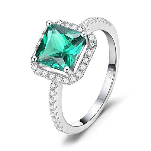 JewelryPalace Cuadrado mujeres 1.4ct Creado Nano Anillos