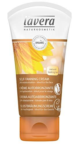 lavera CREME AUTOBRONZANTE VISAGE • L'huile de noix de macadamia bio • Vegan • Cosmétiques naturels • Ingrédients végétaux bio • 100% naturel (50ml)