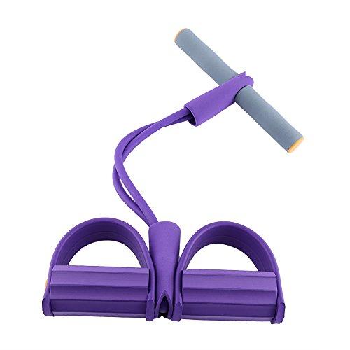 Multifunktionelle Hüfte Bauch Leib Bein Expander Mini Tragbares Fitnessgerät Häusliche Trainingsgerät Fitness Ausrüstung ( Farbe : Lila )