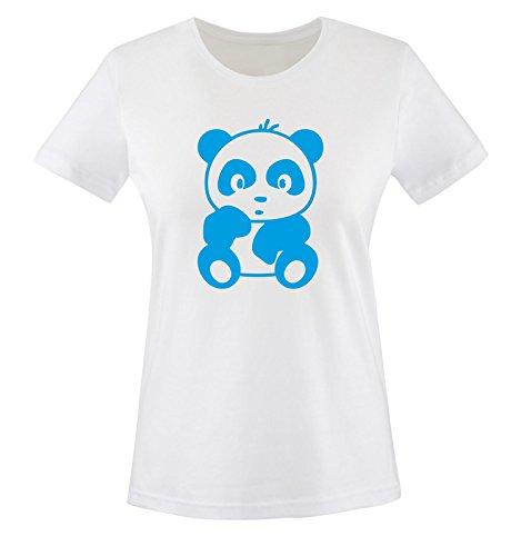 Comic - Baby Bär - Damen Frauen T-Shirt Gr. XS bis XXL Diverse Farben Weiss / Blau