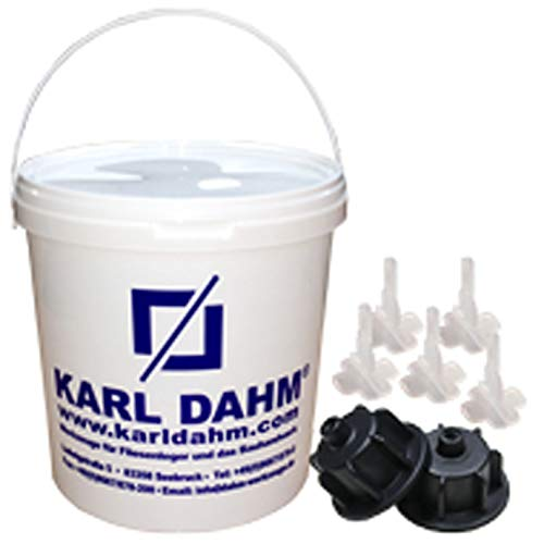 Fliesen Nivelliersystem von KARL DAHM - das Original, Basis Set 12450, für Fliesen von 3-12mm, Profi Qualität vom deutschen Marktführer