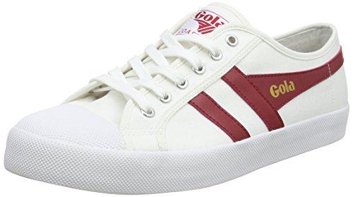 Gola Coaster Blanco / Rojo / Azul Marino, Sneaker Uomo Bianco (blanco / Rojo / Azul Marino Xr)