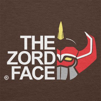 TEXLAB - The Zord Face - Herren T-Shirt Braun