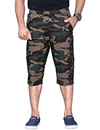 SAPPER Military Camouflage Camo Army Printed Stylish Capri Three Fourth Shorts For Mens (XXX-Large)