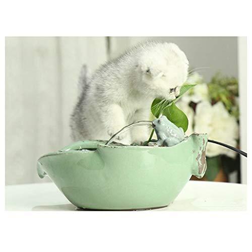 Green Frog Pot (Fun Smart Pet Wassertrinker Frog Electric Automatic Fountain Trinkwasserschale Small Pet Puppy Cat Flüsterleiser Wasserspender Hydroponic Flower Pot GACW (Color : Green))