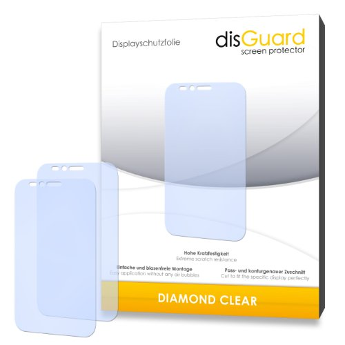 2 x disGuard Diamond Clear Bildschirmschutzfolie für Archos 50 Platinum-Qualität, klar, Antihaft-Beschichtung, Festplatte, blasenfreie montage