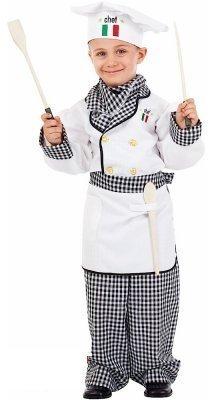 Fancy Me Deluxe Italienisch Made Baby Kleinkind Jungen Mädchen Chef Koch Verkleidung Kostüm Kleidung 0-36 Monate - 10 Years (Deluxe Chef Hut)