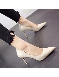 FLYRCX Sexy con tacones altos simple moda llanamente superficial solo zapatos Zapatos Zapatos de partido único...