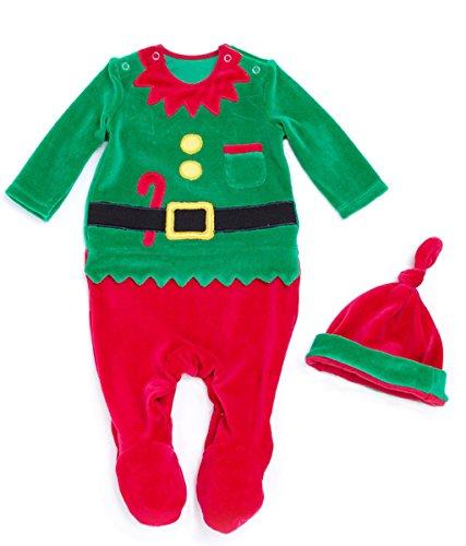 Weihnachtsmann Kleinkind Für Kostüm - Vine Baby Weihnachten Strampler Kostüm Strampler Weihnachtskostüm Unisex Kleinkinder mit Füßen Spielanzug