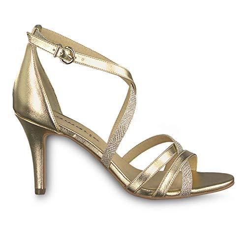 Tamaris - Gold Heiti Healed Sandals - 28002 22943 Gold Comb - 38 Stiletto Gold-ton Strap