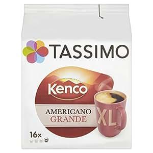 Tassimo Kenco Americano Grande 16 T DISCs (Pack of 5, Total 80 T DISCs/pods)