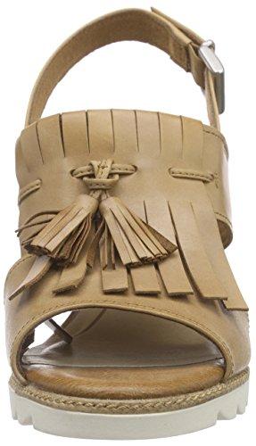 Marco Tozzi Premio 28728, Sandales à plateforme femme Marron - Braun (NUT ANTIC 444)