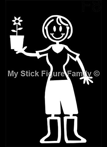 My Stick Figure Family Familie Autoaufkleber Aufkleber Sticker Decal Mutter im Garten F8