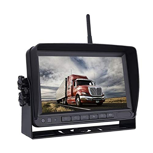 plzlm HD 7-Zoll-Auto-Unterstützungsrückkamera-Kit Digital-Rückansicht Bildschirm LKW Bus RV Caravan Van Trailer Wireless-Backup-Kamera-Sets (Rv-wireless-backup-kamera)