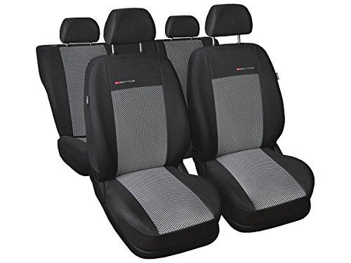 Qashqai Nissan - Coprisedili su Misura, per Auto, Perfettamente adattabili, in Velluto, con Imbottitura in Maglia, Decorazione per Auto