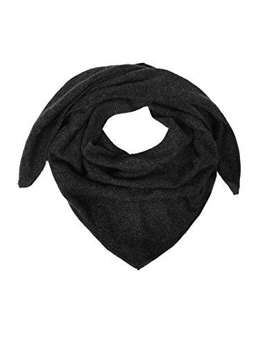Zwillingsherz Dreieckstuch aus 100% Kaschmir - Hochwertiger Schal im Uni Design für Baby-s Jungen und Mädchen - Cashmere XXL Hals-Tuch und Damenschal - Strick-Waren für Sommer und Winter ant
