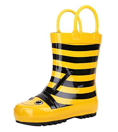 SK Studio Children Rain Boots Handles Rubber Boots for Kids