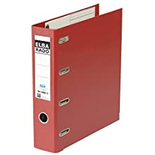 Elba A4 75 mm 2-Arch Lever Folder - Red