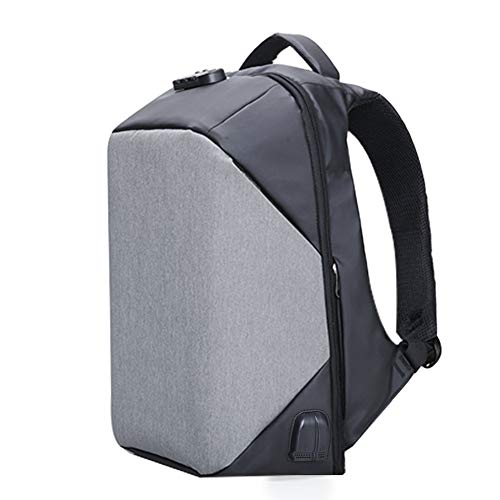 Kalidi Sac à Dos 17.3 Pouce Antivol Ordinateur Portable, Backpack 15.6 Pouces Sac Laptop USB Prise Audio Etanche Macbook Surface Pro Rucksack Camping Voyage Bureau Outdoor (Gris 17.3 Pouce)