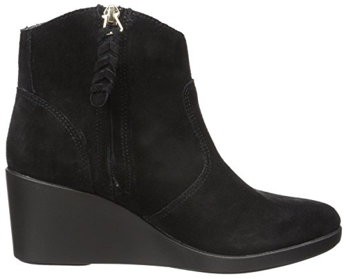 CROCS Femme - Leigh Suede Wedge Bootie - black Black