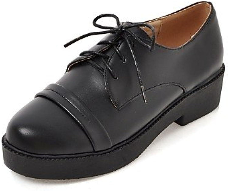 ZQ Zapatos de mujer - Tacón Robusto - Punta Redonda / Botas a la Moda - Oxfords - Oficina y Trabajo / Vestido...