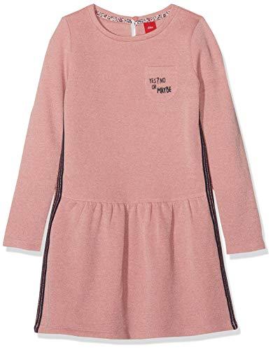 s.Oliver RED Label Mädchen Sweatkleid mit Glitzer-Effekt Light pink Melange 98.REG