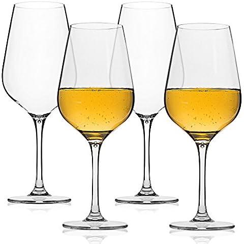 MICHLEY Infrangibile Bicchieri da vino, 100% Tritan Bicchieri Calici da vino rosso, senza BPA, lavabile in lavastoviglie,53 cl Confezione da 4 Pezzi