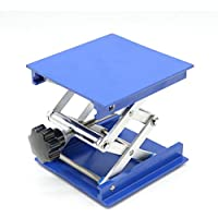 4de aluminio Plataformas Lab-Lift levantamiento soporte rack Scissor Jack Lab 100x 100x 150mm