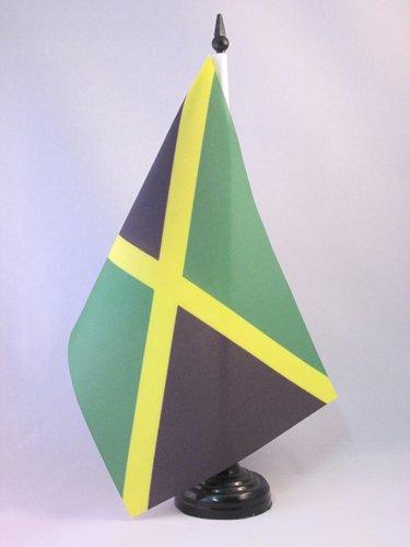 AZ FLAG Bandiera da Tavolo Giamaica 21x14cm - Piccola BANDIERINA GIAMAICANA 14 x 21 cm