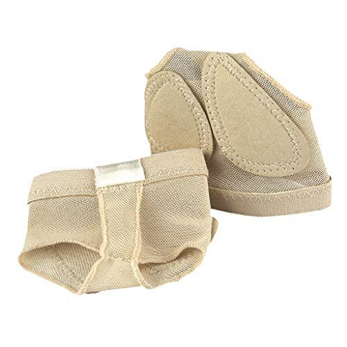 F Fityle Erwachsene Ballet Zehenschutz Halbsohle Foo Thong - Beige, XL - Beige Thong