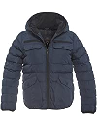 SS7 Boys Shower proof Padded Parka Coat, Navy Blue, Black, Ages 7 to 13