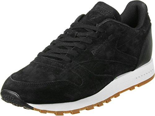 Reebok Herren Classic Leather Sg Fitnessschuhe, Schwarz (Black / Chalk Gum), 37 EU (Reebok Turnschuhe Schnürschuhe)