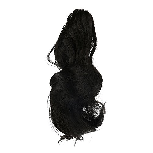 Rifuli® Perrücke Womens Claw Thick Wavy Curly Short Ponytail Horsetail Clip Hair Extensions Kurze Haarperücke