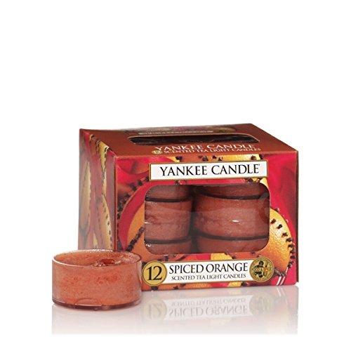 Yankee Candle Teelichter-Kerzen, Spiced Orange, 12er-Packung