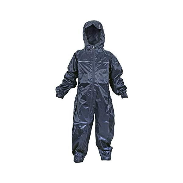 DRY KIDS Childrens Waterproof Rainsuit, All in One Dry Suit for Outdoor Play. Ideal Outerwear for Boys and Girls 1