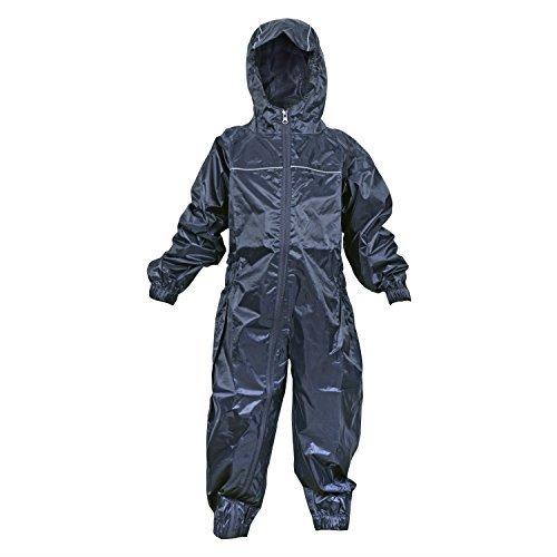 Dry Kids wasserdichter Regenanzug, für Jungen und Mädchen geeignet, aus Polyester, in Navy Blau, für Kinder ab 1 Jahr.