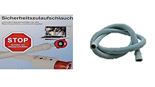 Aquastop/Aquastopschlauch/Sicherheitsschlauch + Ablaufschlauch für Waschmaschine oder Geschirrspüler - Länge 1,5m -+ Ablaufschlauch