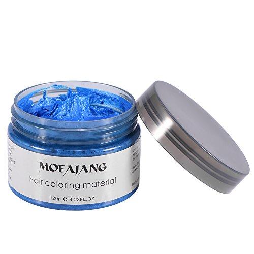 Filfeel Haarfarbe 120 ML Männer Frauen Einweg Haarfärbemittel Schlamm Friseur Creme Styling Wachs(Blau)