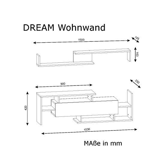 Wohnwand Dream Weiß-Walnuss 3603 - 4