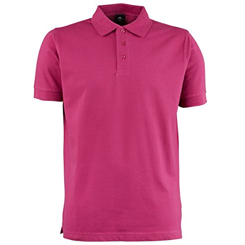 Tee Jays Herren Luxury Stretch Polo-Shirt, Kurzarm Pflaume