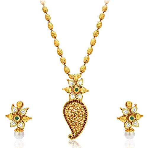 Sukkhi Stylish Gold Plated Kundan Necklace Set For Women