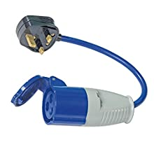 PowerMaster 818738 Fly Lead Converter 13A Plug to 16A Socket