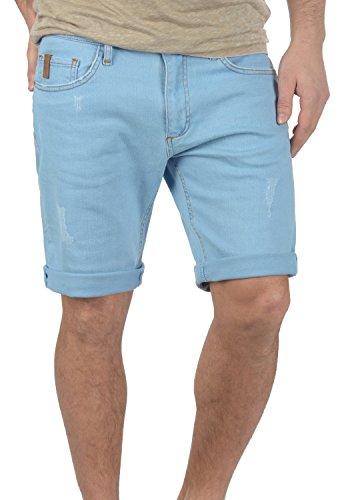 REDEFINED REBEL Monfire Herren Jeans-Shorts kurze Hose Denim aus hochwertiger Baumwollmischung Light Blue